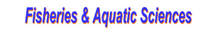 Fisheries, Aquatic Sciences